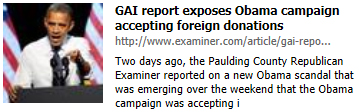 GAI report exposes Obama campaign accepting foreign donations